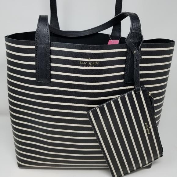 Kate Spade NEW Reversible Tote Bag & Wristlet